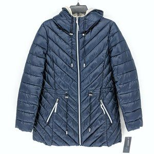 French Connection Packable Drawstring Puffer Coat